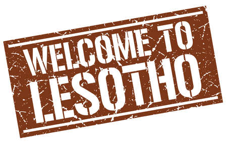 lesotho: welcome to Lesotho stamp