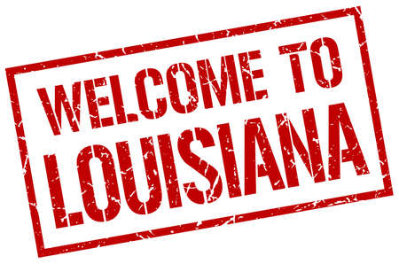 louisiana: welcome to Louisiana stamp