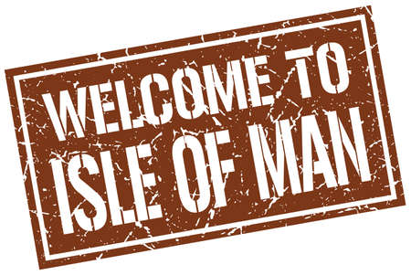 isle: welcome to Isle Of Man stamp