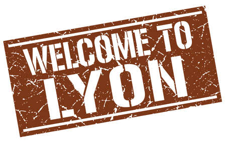 lyon: welcome to Lyon stamp