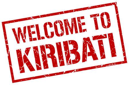 kiribati: welcome to Kiribati stamp