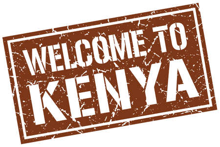 kenya: welcome to Kenya stamp