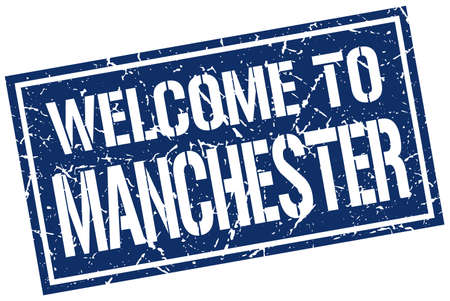 manchester: welcome to Manchester stamp Illustration