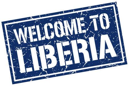 liberia: welcome to Liberia stamp