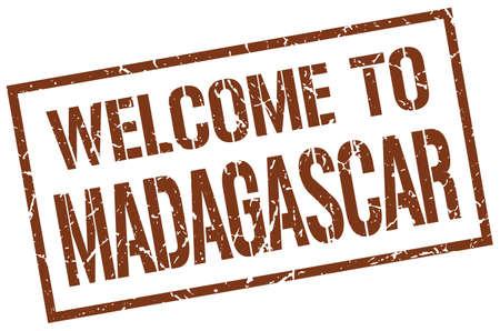 madagascar: welcome to Madagascar stamp