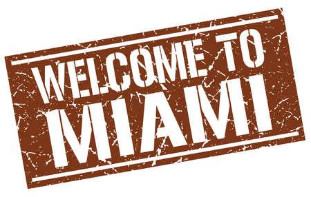 miami: welcome to Miami stamp