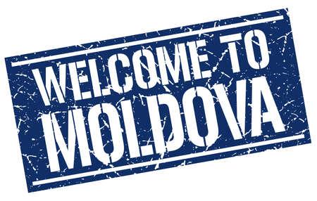 moldova: welcome to Moldova stamp