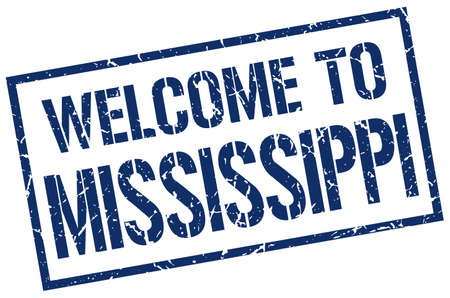 mississippi: welcome to Mississippi stamp
