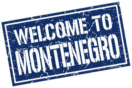 montenegro: welcome to Montenegro stamp Illustration