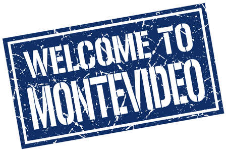 montevideo: welcome to Montevideo stamp