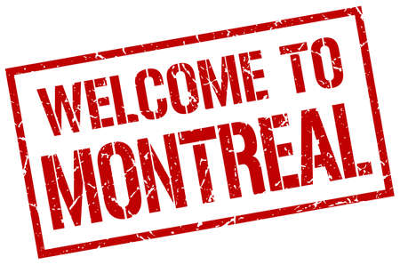 montreal: welcome to Montreal stamp