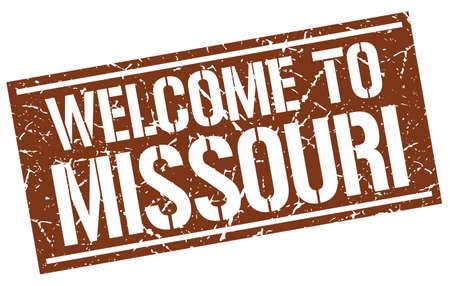 missouri: welcome to Missouri stamp