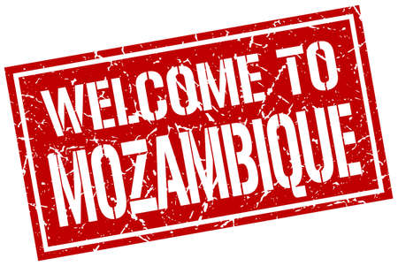 mozambique: welcome to Mozambique stamp