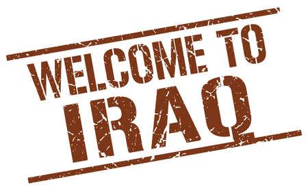 iraq: welcome to Iraq stamp Illustration