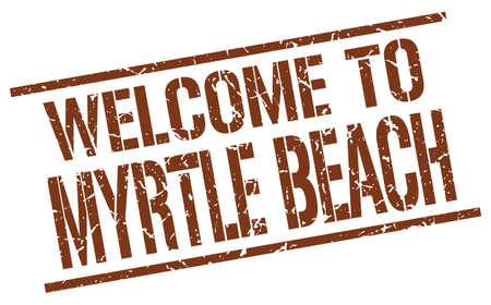myrtle: welcome to Myrtle Beach stamp