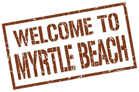 myrtle: welcome to Myrtle Beach stamp