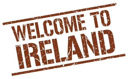 ireland: welcome to Ireland stamp
