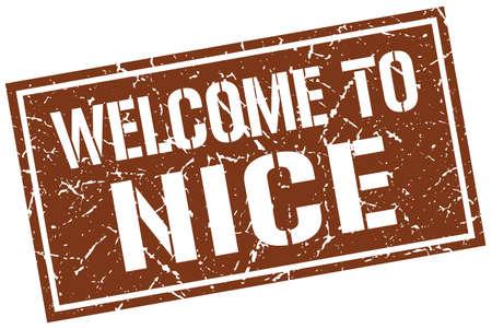 welcome to Nice stamp