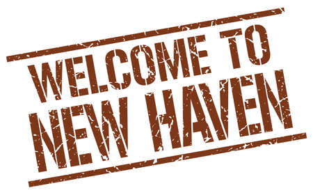 haven: welcome to New Haven stamp