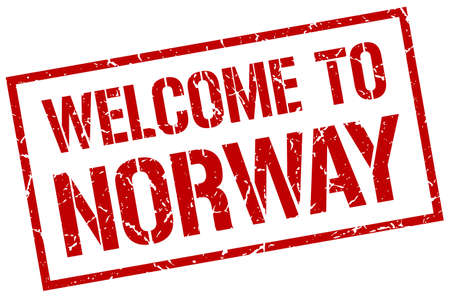norway: welcome to Norway stamp