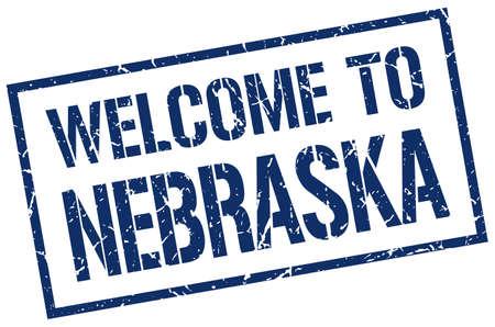 nebraska: welcome to Nebraska stamp