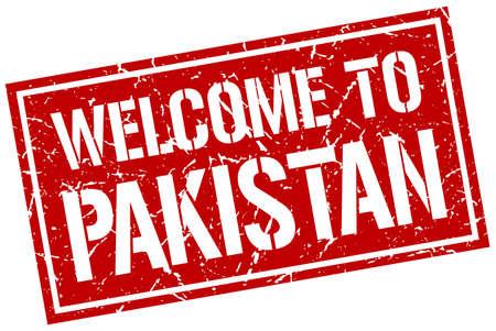 Pakistan: welcome to Pakistan stamp