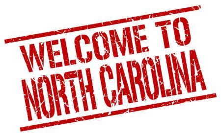 north carolina: welcome to North Carolina stamp Illustration