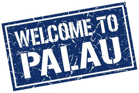 palau: welcome to Palau stamp Illustration