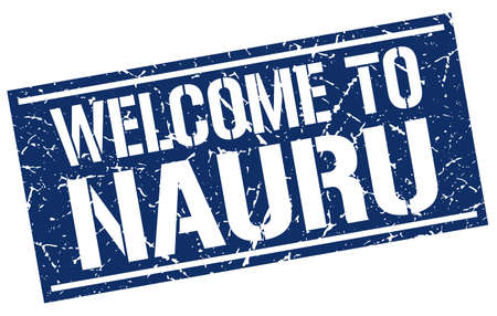 nauru: welcome to Nauru stamp