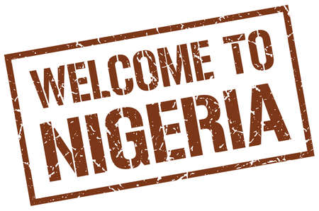 nigeria: welcome to Nigeria stamp