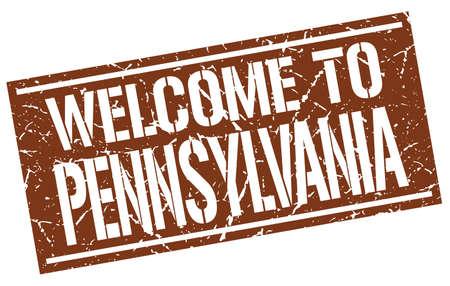 pennsylvania: welcome to Pennsylvania stamp