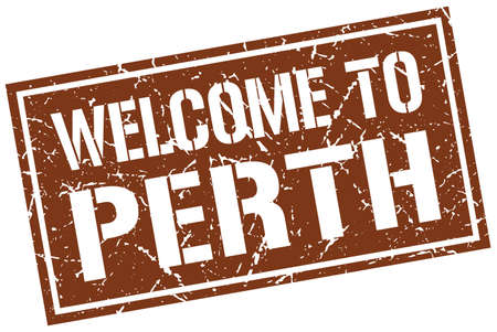 perth: welcome to Perth stamp Illustration
