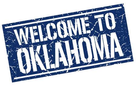 oklahoma: welcome to Oklahoma stamp Illustration