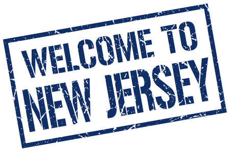 jersey: welcome to New Jersey stamp Illustration
