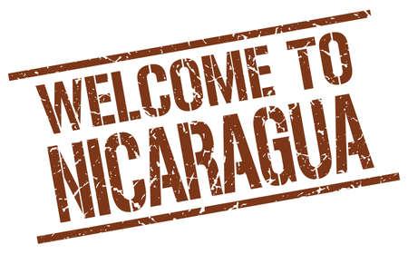 nicaragua: welcome to Nicaragua stamp