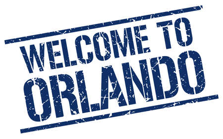 orlando: welcome to Orlando stamp Illustration