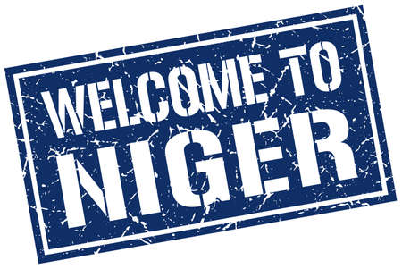 niger: welcome to Niger stamp