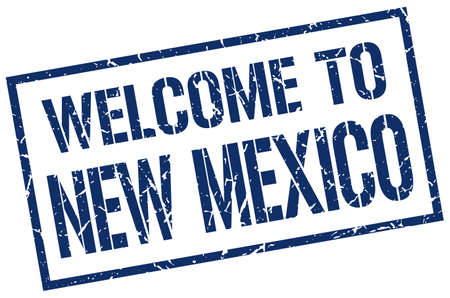 new mexico: welcome to New Mexico stamp Illustration