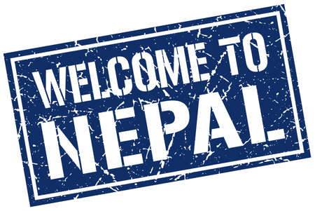 nepal: welcome to Nepal stamp