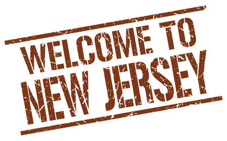new jersey: welcome to New Jersey stamp Illustration