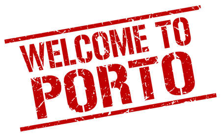 welcome to Porto stamp 矢量图像