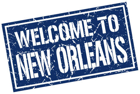 new orleans: welcome to New Orleans stamp