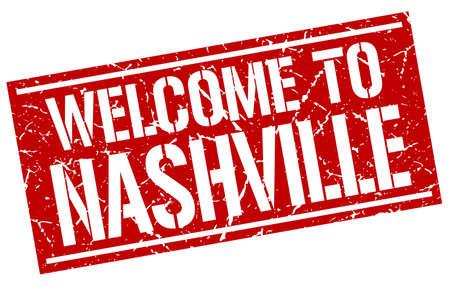 nashville: welcome to Nashville stamp