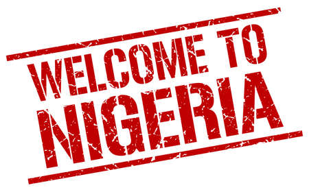 nigeria: welcome to Nigeria stamp