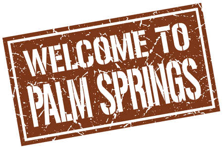palm springs: welcome to Palm Springs stamp