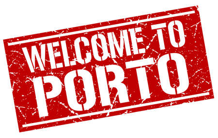 porto: welcome to Porto stamp Illustration