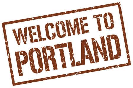 portland: welcome to Portland stamp Illustration