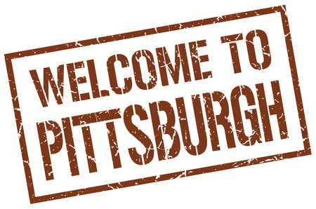 pittsburgh: welcome to Pittsburgh stamp