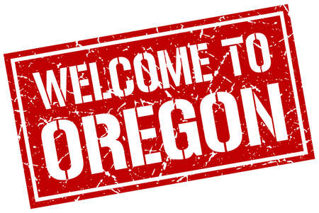 oregon: welcome to Oregon stamp