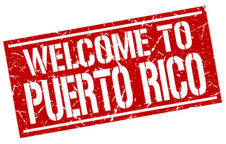 rico: welcome to Puerto Rico stamp